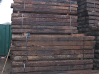 grade 2 oak railway sleepers wood